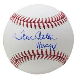 """Steve Carlton Signed OML Baseball Inscribed """"HOF 94"""" (JSA COA)"""