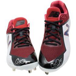 Cole Hamels Signed Pair of (2) New Balance Baseball Cleats (Beckett COA)