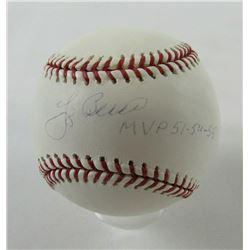 """Yogi Berra Signed OML Baseball Inscribed """"MVP 51-54-55"""" (JSA COA)"""