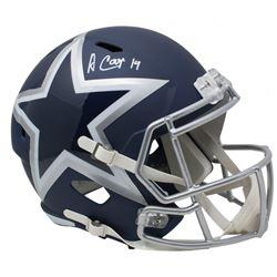 Amari Cooper Signed Dallas Cowboys Full-Size AMP Alternate Speed Helmet (JSA COA)
