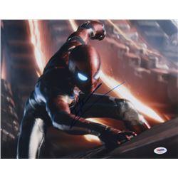 "Tom Holland Signed ""The Avengers: End Game"" 11x14 Photo (PSA COA)"