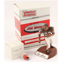 Jim Brown Signed LE Cleveland Browns Figurine (Salvino COA)