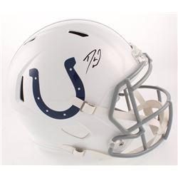 Darius Leonard Signed Indianapolis Colts Full-Size Speed Helmet (Radtke COA)