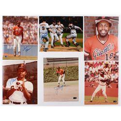 Lot of (6) Signed San Francisco Giants 8x10 Photos with Frank Robinson, Joe Morgan, Bill Madlock, Al