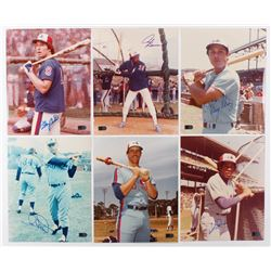 Lot of (6) Signed Montreal Expos 8x10 Photos with Gary Carter, Tony Perez, Andre Dawson, Ron Hunt, W