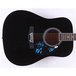 "Jerry Only, Robo  Dez Cadena Signed 38"" Acoustic Guitar (PSA COA)"