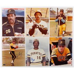 Lot of (6) Signed Pittsburgh Pirates 8x10 Photos with Willie Stargell, Tony Pena, Bill Madlock, Jaso