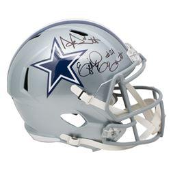 Ezekiel Elliott  Dak Prescott Signed Dallas Cowboys Full-Size Speed Helmet (Beckett COA  Prescott Ho