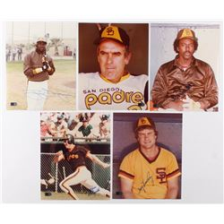 Lot of (5) Signed San Diego Padres 8x10 Photos with Tony Gwynn, Gaylord Perry, Gary Templeton, Kevin
