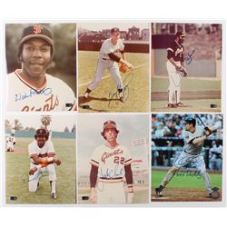 Lot of (6) Signed San Francisco Giants 8x10 Photos with Willie McCovey, Gaylord Perry, Vida Blue, Da