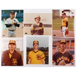 Lot of (6) Signed San Diego Padres 8x10 Photos with Ozzie Smith, Steve Garvey, Graig Nettles, Tim Lo