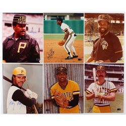 Lot of (6) Signed Pittsburgh Pirates 8x10 Photos with Willie Stargell, Bobby Bonilla, Bill Madlock,
