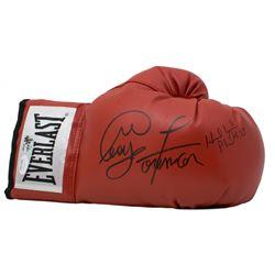 George Foreman  Evander Holyfield Signed Everlast Boxing Glove (JSA COA  Foreman Hologram)