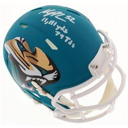 "Maurice Jones-Drew Signed Jacksonville Jaguars Speed AMP Mini-Helmet Inscribed ""11,111 Yds""  ""79 Tds"