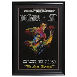 "Ceasars Palace World Heavyweight Championship ""Muhammad Ali v. Larry Holmes"" 24x30 Custom Framed Pos"