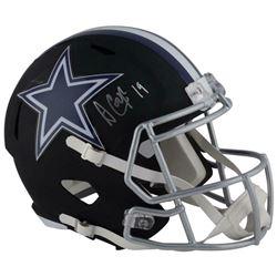 Amari Cooper Signed Dallas Cowboys Full-Size Matte Black Speed Helmet (Fanatics Hologram)