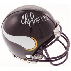 """Chris Doleman Signed Minnesota Vikings Mini-Helmet Inscribed """"HOF 12"""" (Radtke COA)"""