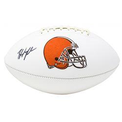 Baker Mayfield Signed Cleveland Browns Logo Football (PSA COA)