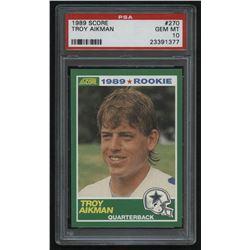 1989 Score #270 Troy Aikman RC (PSA 10)