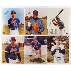 Lot of (6) Signed New York Mets 8x10 Photos with Rick Aguilera, Ron Darling, George Foster, Doug Sis