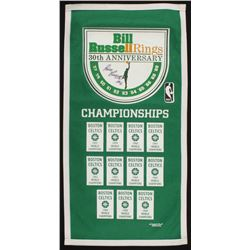 Bill Russell Signed Boston Celtics 17.75x35.25 30th Anniversary Banner (Timeless Excellence COA)