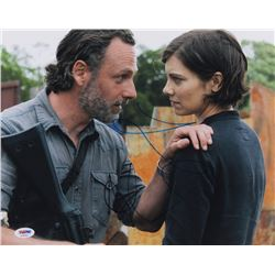 "Lauren Cohan  Andrew Lincoln Signed ""The Walking Dead"" 11x14 Photo (PSA COA)"