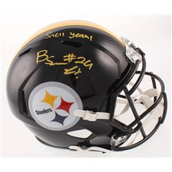 "Benny Snell Jr. Signed Pittsburgh Steelers Full-Size Speed Helmet Inscribed ""Snell Yeah!"" (JSA COA)"