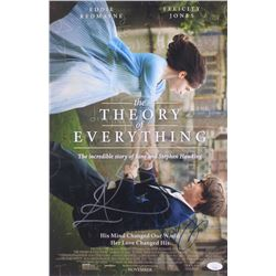 """Eddie Redmayne  Felicity Jones Signed """"The Theory of Everything"""" 12x18 Photo (JSA COA)"""