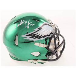 Randall Cunningham Signed Philadelphia Eagles Chrome Speed Mini Helmet (Beckett COA)