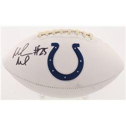 Marlon Mack Signed Indianapolis Colts Logo Football (Radtke COA)