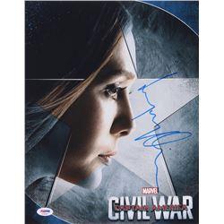 "Elizabeth Olsen Signed ""Captain America: Civil War"" 11x14 Photo (PSA COA)"