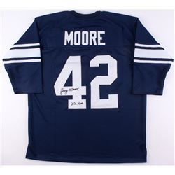 "Lenny Moore Signed Jersey Inscribed ""We Are"" (JSA COA)"