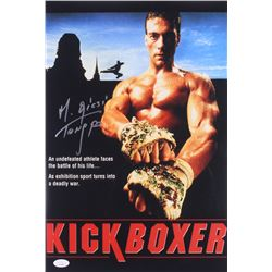 "Michel Qissi Signed ""Kickboxer"" 12x18 Photo Inscribed ""Tong Po"" (JSA COA)"