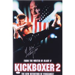 "Michel Qissi Signed ""Kickboxer 2"" 12x18 Photo Inscribed ""Tong Po"" (JSA COA)"
