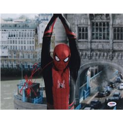 "Tom Holland Signed ""Spider-Man: Far From Home"" 11x14 Photo (PSA COA)"