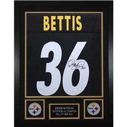 Jerome Bettis Signed 24x30 Custom Framed Jersey (JSA COA)