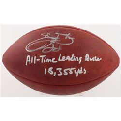 """Emmitt Smith Signed Official NFL Game Ball Inscribed """"All-Time Leading Rusher""""  """"18,355 Yds"""" (Radtke"""