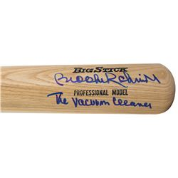 "Brooks Robinson Signed Rawlings Adirondack Big Stick Pro Model Baseball Bat Inscribed ""The Vacuum Cl"