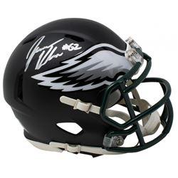 Jason Kelce Signed Philadelphia Eagles Matte Black Speed Mini Helmet (JSA COA)