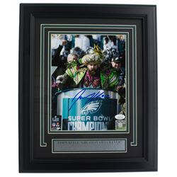 Jason Kelce Signed Philadelphia Eagles 11x14 Custom Framed Photo Display (JSA COA)