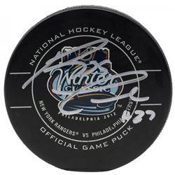 Reggie Leach Signed 2012 Winter Classic Hockey Puck (JSA COA)