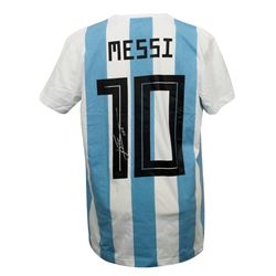 "Lionel Messi Signed Argentina Adidas Jersey Inscribed ""Leo"" (Messi COA)"