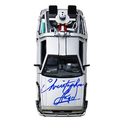"Christopher Lloyd Signed ""Back to the Future Part II"" DeLorean 1:24 Diecast Car (Beckett COA)"