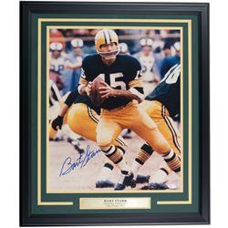 Bart Starr Signed Green Bay Packers 22x27 Custom Framed Photo Display (JSA COA)