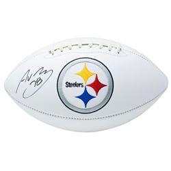 Alejandro Villanueva Signed Pittsburgh Steelers Logo Football (Beckett COA)