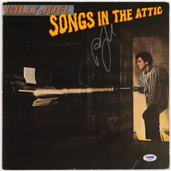 "Billy Joel Signed ""Songs In The Attic"" Vinyl Album Cover (PSA COA)"