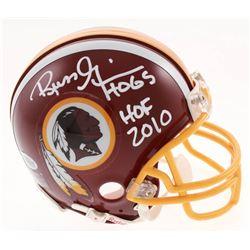 "Russ Grimm Signed Washington Redskins Mini Helmet Inscribed ""HOF 2010"" (Beckett COA)"