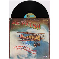 """Joe Walsh Signed """"The Smoker You Drink. The Player You Get."""" Vinyl Album Cover (PSA COA)"""