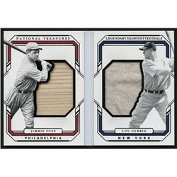 2019 Panini National Treasures Legendary Silhouette Duals Booklets Black Relics #10 Jimmie Foxx / Lo