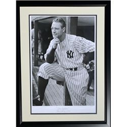 "Lou Gehrig LE ""The Captain"" 21x28 Custom Framed Hulton Archive Giclee Display (PCV COA)"